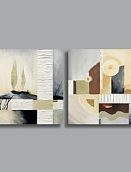 Handgemalte Abstrakt Zwei Panele Leinwand Hang-Ölgemälde For Haus Dekoration