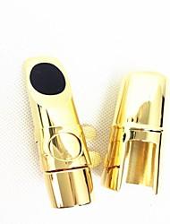tubo de metal saxofón alto tubo de metal saxofón headalto cabeza # 5 (de oro)