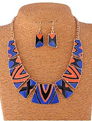 Women's Bohemian multiple Multicolor Alloy (Earrings&Necklaces) Gemstone Jewelry Sets