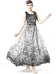 Bolinhas Bohemia Vestido das S-RAY Mulheres
