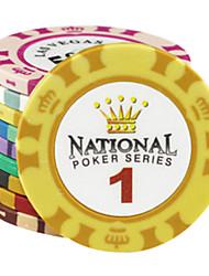 Jetons en argile de motif $ 1 couronne de mahjong jouets de divertissement