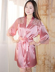 Damenmode Sexy Pure Color Silk Robe