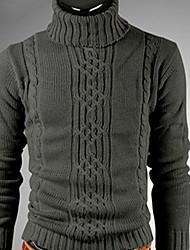 QCH Herren High Neck Sweater (Dunkelgrau)