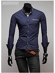hiend t-shirt ocasional de manga longa para homens