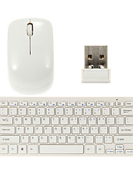 Ultra-Thin 2.4G Wireless 78-Key QWERTY Keyboard and Mouse Kit with Keyboard Cover
