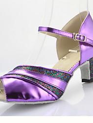 Customized Women's Leatherette Professional Ballroom Salsa Latin Dance Shoes