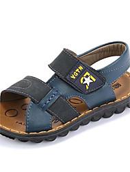 ursinho ® 2014 verão novo padrão do couro dos sapatos menino de praia