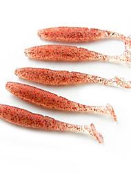 8.5cm de la venta caliente 3g Worm Soft Tail Grub Lure (10 piezas)