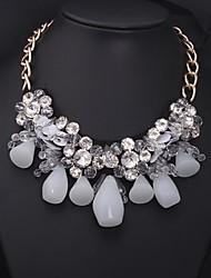 Women's Luxury Multi-gem Ribbon Flowers Necklace