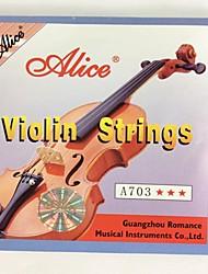 A703 Violino Cordas Set Fit Para Violino 1/8-4/4