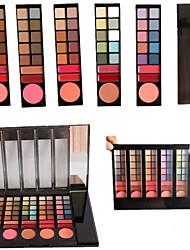 professionnelle 78 60 fard à paupières de couleur / 6 blush / 12 gloss palette avec miroir&applicateur éponge de maquillage jeu
