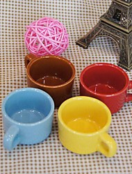 el color del caramelo del color de mini taza de cerámica aleatorio, 6.5x6x3.5cm