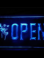 OPEN Facial Waxing Shop Advertising LED Light Sign