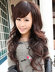 Teemee Wig Long Curly Hair In Brown 80726