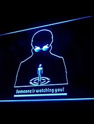Qualcuno Watching You Pubblicità Light LED Sign