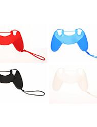 4pcs Neues Design Schutzmaßnahmen Silikon Skin mit Kette für PS4-Controller