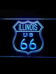 Route 66 US Illinois Advertising LED Light Sign