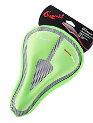 CHAUNTS 3D Double Thickening Memory Sponge Hollow Triangle Green Bicycle Saddle Seat Cover