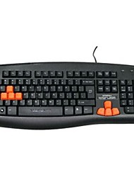 Newmen Gaming Keyboard Cablato Interfaccia USB