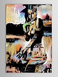 Hand-Painted PeopleModern / Traditional One Panel Canvas Oil Painting For Home Decoration