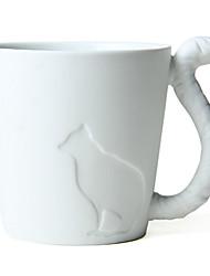 """270ml de cerâmica criativa Cat Padrão Copa com cauda punho, 4,3 x3.2 """"x3.3"""" """""""
