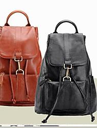 New Women's Fashion Leisure Travel 100%Genuine Leather  Backpacks  (Linning Color on Random)
