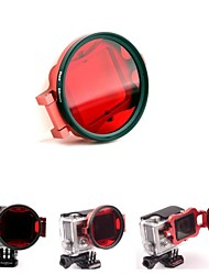 58mm Underwater Color-Correction Filter Dive Filter w/ Flip Converter for GoPro Hero 3+