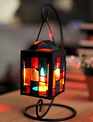Place Iron Storm Style Lanterne chandelier noir avec crochet