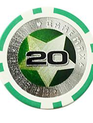 $ 20 pentagramme abs mahjong puces jouets de divertissement