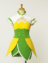 inspirada nos trajes cosplay ídolo mestre Chihaya Kisaragi