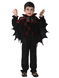 Cosplay Costumes / Party Costume Animal Festival/Holiday Halloween Costumes Black Solid Top / Pants / Cloak Halloween / Carnival Kid