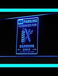 pas de parking réservé publicité conduit de lumière de signe