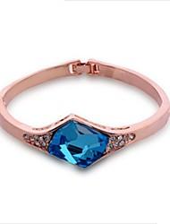 Mengguang Women's Locklets Charming Crystal Bracelet