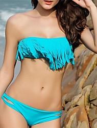 PinkQueen Azul Diva Strapless Fringe 2/pc Bikini
