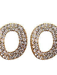 Earring Stud Earrings Jewelry Women Party / Daily / Casual Crystal / Silver Plated / Gold Plated 2pcs