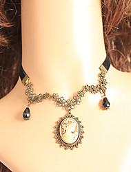 Hecho a mano Elegant Sweet Lolita collar de la aleación de oro Gentlewoman