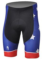 PaladinSport Hombres La bandera estadounidense La primavera y el verano del estilo de Lycra y poliéster ciclismo cortos