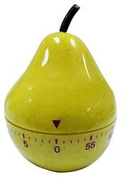 "Peras em forma mecânica Kitchen Timer, Plástico 8 ""X4"" X2 """