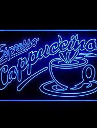 Эспрессо Капучино Кубок Реклама светодиодные Вход