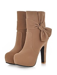 Flocking Women's Stiletto Heel Platform Booties/Ankle Boots (More Colors)