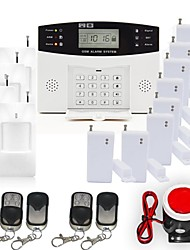 Home Security GSM Alarm System Kit with Smoke Fire Alarm