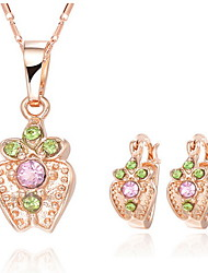 Fanccy Cute Earrings Necklace SetS060 Screen Color(Necklace:45CM)