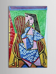 Hand Painted Oil Painting FamousPablo Picasso Reproduction  Woman Sitting in an Armchair with Stretched Frame