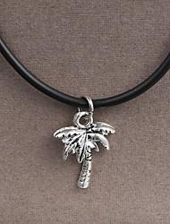 Мода из нержавеющей стали кокосовой пальмы кулон ожерелье