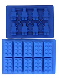 Brick & MINI Robot Shaped FDA Silicon Ice Cube Tray Kits