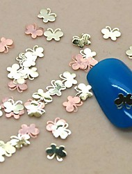 200PCS Cute Butterfly Metal Slice Golden Nail Art Decoration