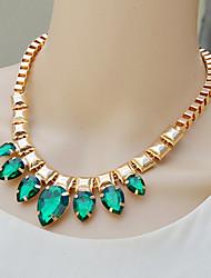 manmen Frauen Temperament Eleganz Teardrop Kristall Halskette