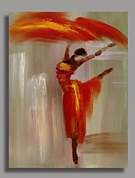 Hand Painted Abstract Oil Painting -Dancer with Stretched Frame Ready to Hang