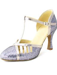 Zapatos de baile (Negro/Azul/Rojo/Plata/Gris/Oro) - Moderno - Personalizados - Tacón Personalizado