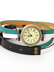 Dare U Fashion Alloy Genuine Leather Adjustable Watch